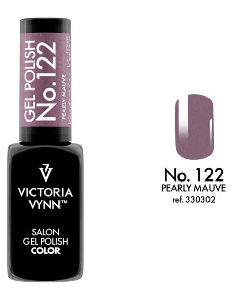 Gel Polish couleur pearly mauve n°122 de Victoria Vynn